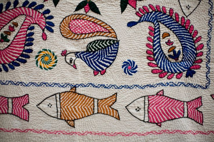 pin tangle embroidery | KANTHA EMBROIDERY PATTERNS | Embroidery Designs