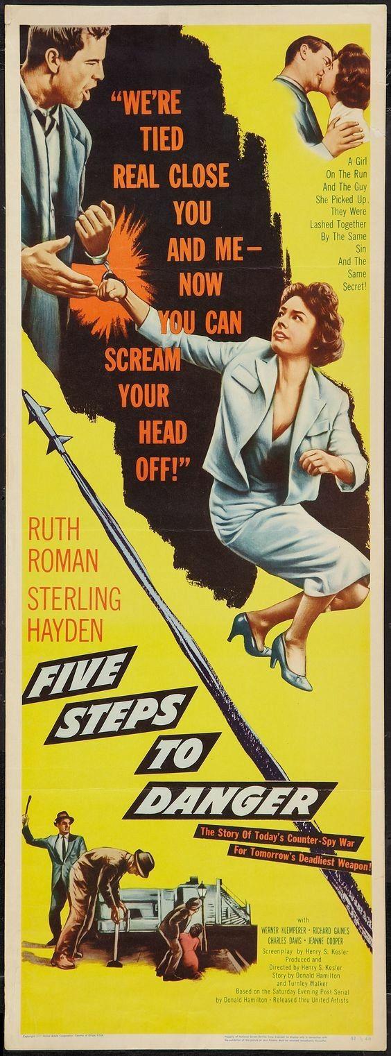 Five Steps to Danger (1956) Ruth Roman, Sterling Hayden, Werner Klemperer