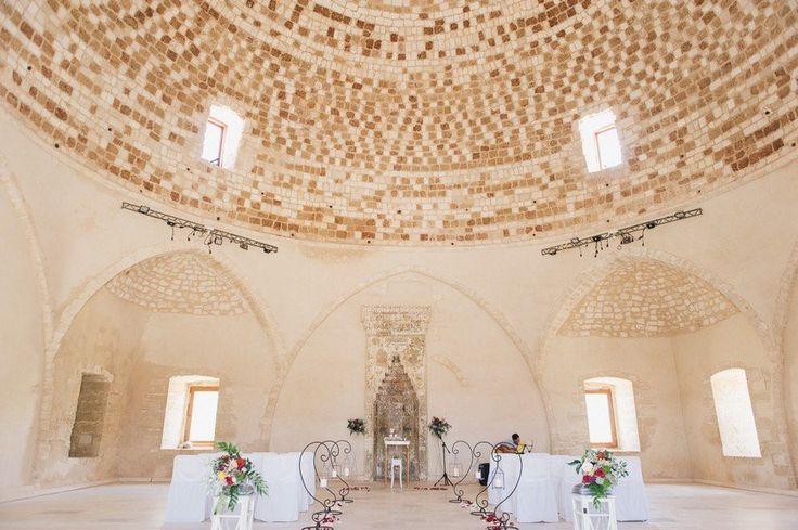 fortezza rethymnon wedding.  Historical chapel destination wedding in Crete