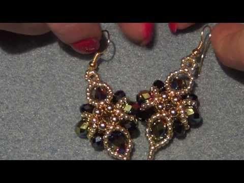 TUTORIAL orecchini Vintage Fan con Superduo e Swarovski | Superduo earrings TUTORIAL - YouTube