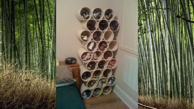 pvc shoe rack