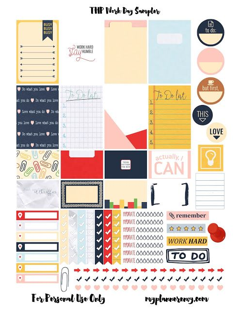 My Planner Envy: Work Day Sampler - Free Planner Printable