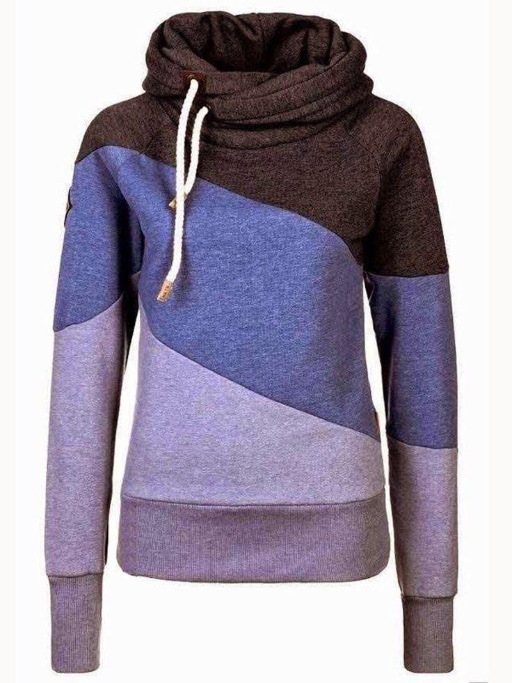 Polo Neck Warm Hoody Hoodie Sweatshirt Jumper