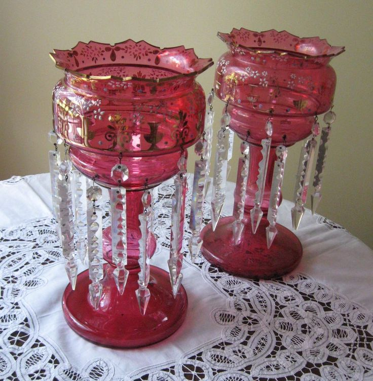 78 Images About Mantle Lustres On Pinterest Ruby Red
