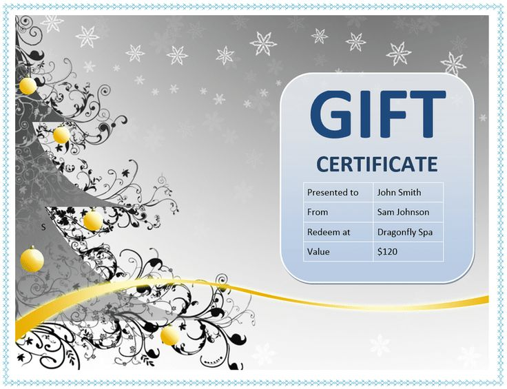 25 best ideas about Gift certificate template word – Create a Certificate in Word