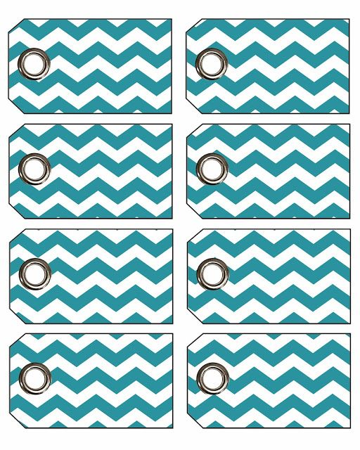Freebie Week: Chevron Gift Tags with Eyelets!