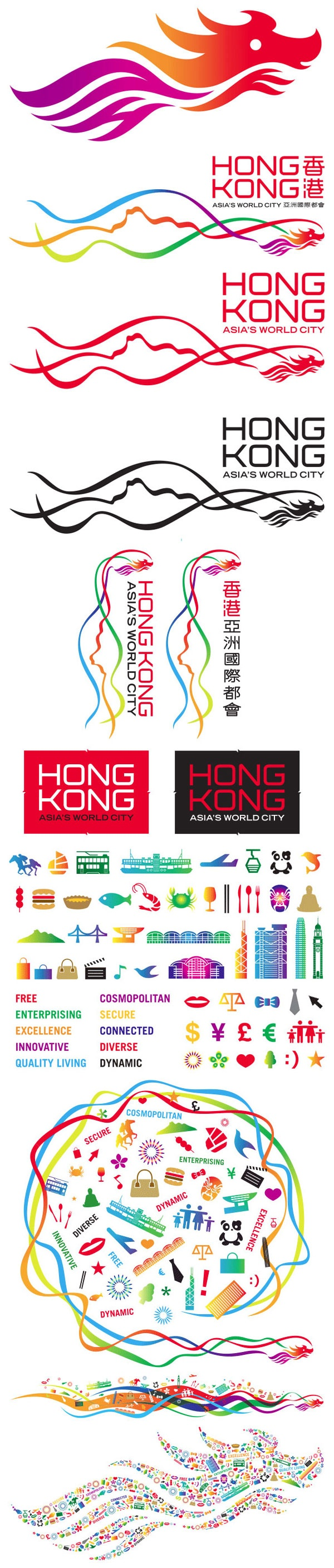 Identity for Brand Hong Kong (BHK) by Landor #city_brand 2010