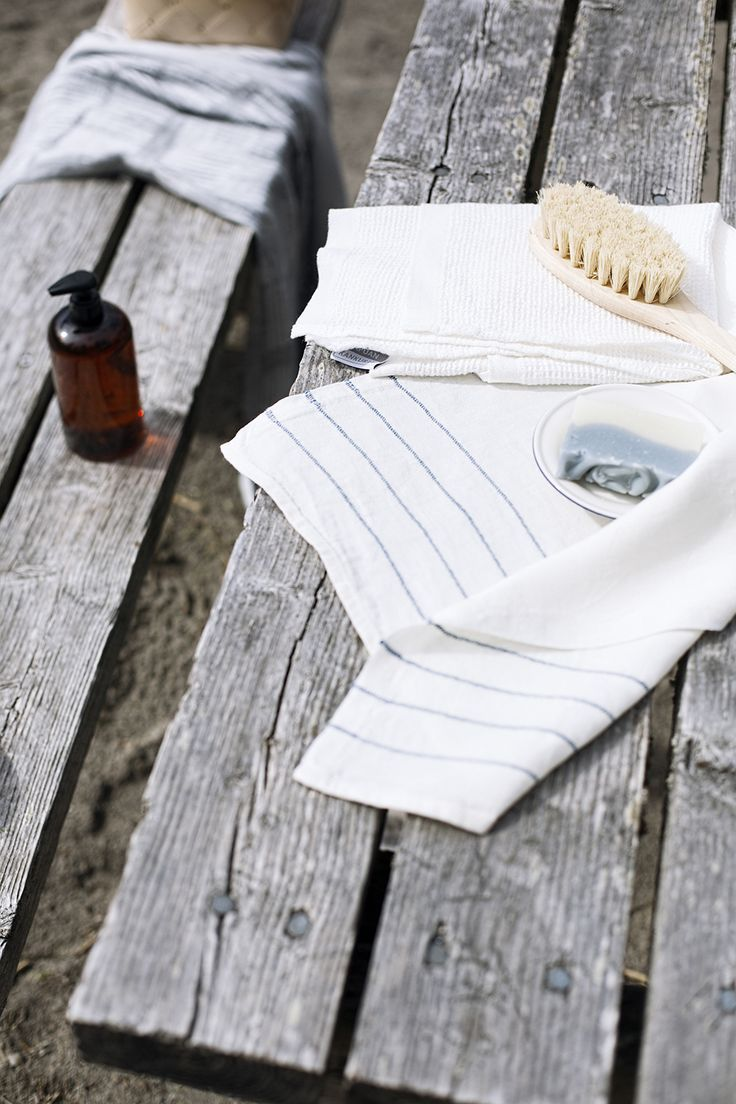 Linen towels, woven in Finland by Lapuan Kankurit.