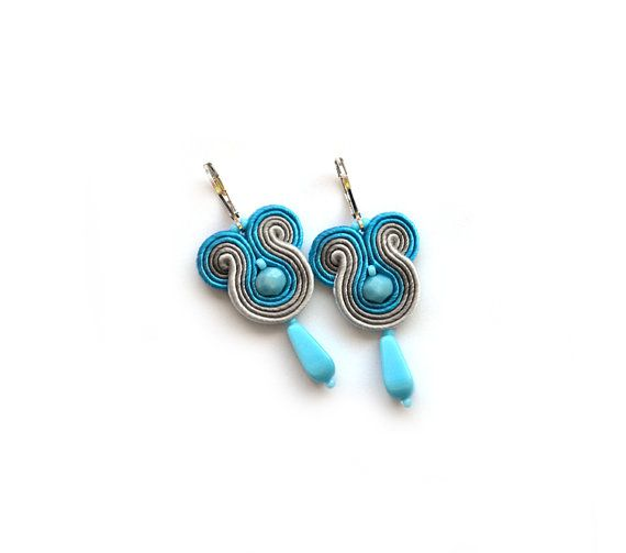 Soutache earrings mini casual ombre earrings by SaboDesign on Etsy, $32.00