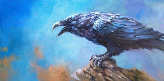 Raven by Kindrie Grove #oiloncanvas