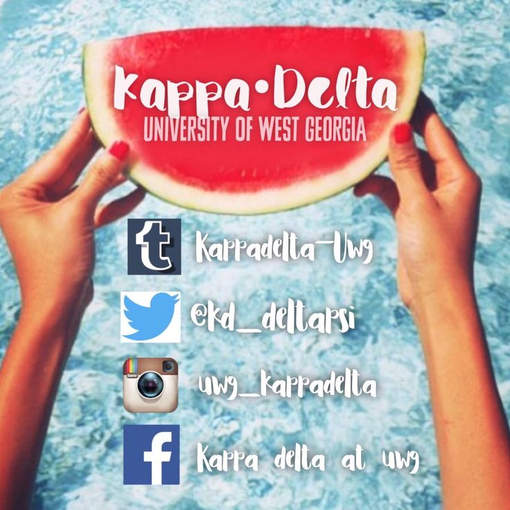 Great way to promote all of your chapters social media accounts.