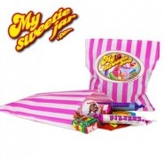Old School Candy Stripe Sweets Bags filled with your favourite Retro Sweets £0.99p