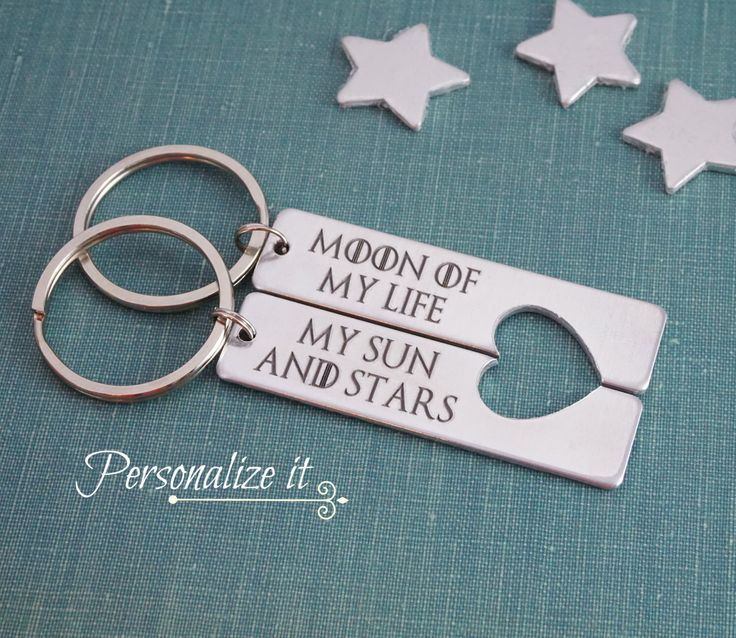 Moon of My Life, My Sun and Stars, Game of Thrones, Game of Thrones Gift, Game of Thrones Keychain, Keychain set, His and Hers, keychain by LoraDouglasJewelry on Etsy https://www.etsy.com/listing/204831473/moon-of-my-life-my-sun-and-stars-game-of