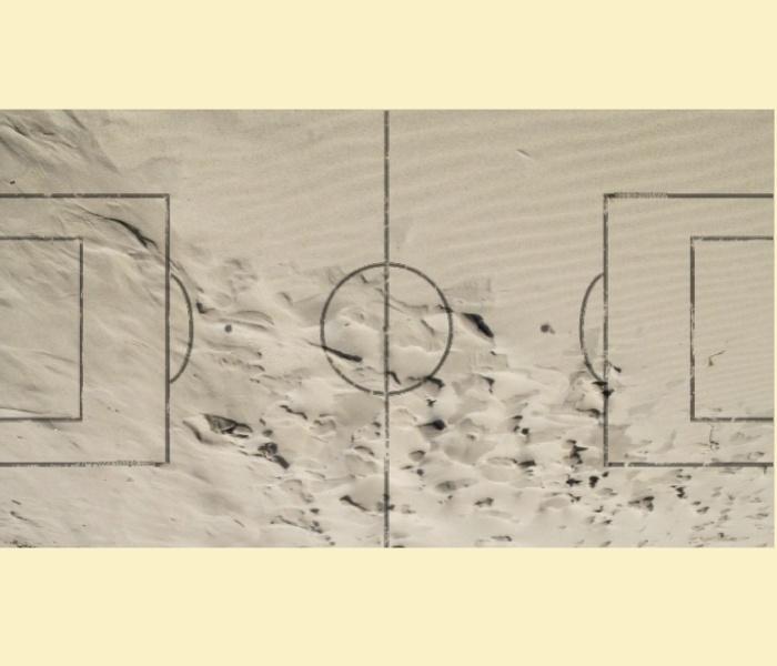 """Kickertisch Zubehör / Kicker Zubehör / Tischfußball Zubehör - Spielfeldfolie Motiv """"Beachsoccer"""""""