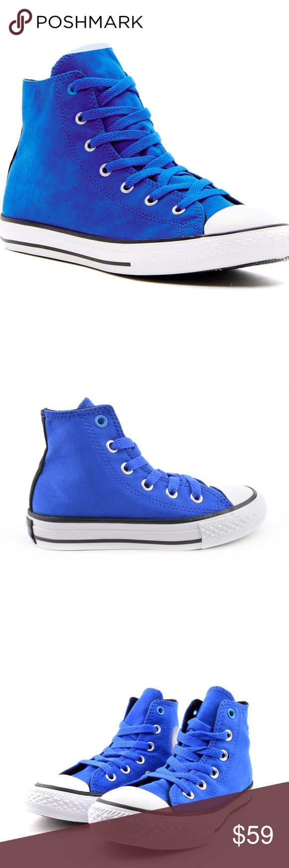 Converse Chuck Taylors blue hi tops women size 7.5 Shoes are a size 5.5 juniors which is a women's size 7.5 Brand new without box. Converse Shoes Sneakers