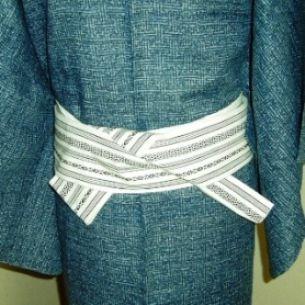 035 角帯(男性) - Kaku obi used for [ yet to be determined ] musubi [for male] ? ~ How to tie, see underlined link in original post, or: http://www.hansokubu.com/ai/035.pdf