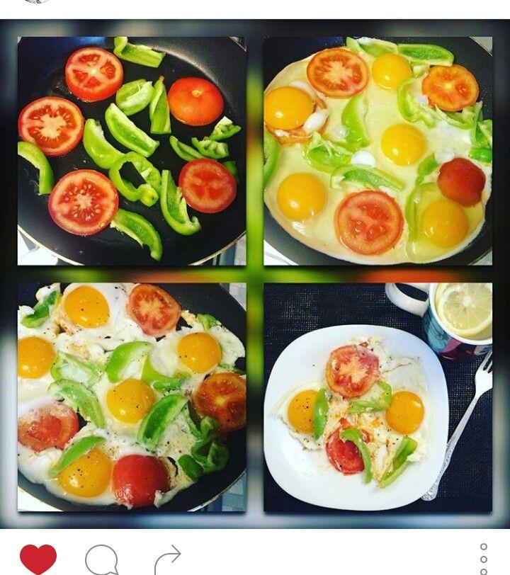 Идея яичницы с овощами