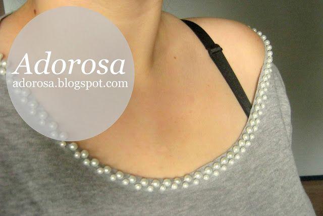 DIY: Pearl T-shirt more: www.adorosa.pl