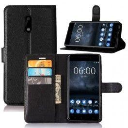 Nokia 6 musta puhelinlompakko.
