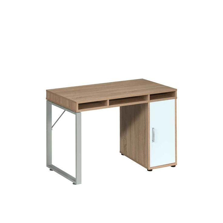Computer Schreibtisch In Sonoma Eiche Weiß Metallgestell Jetzt Bestellen  Unter: Https://moebel