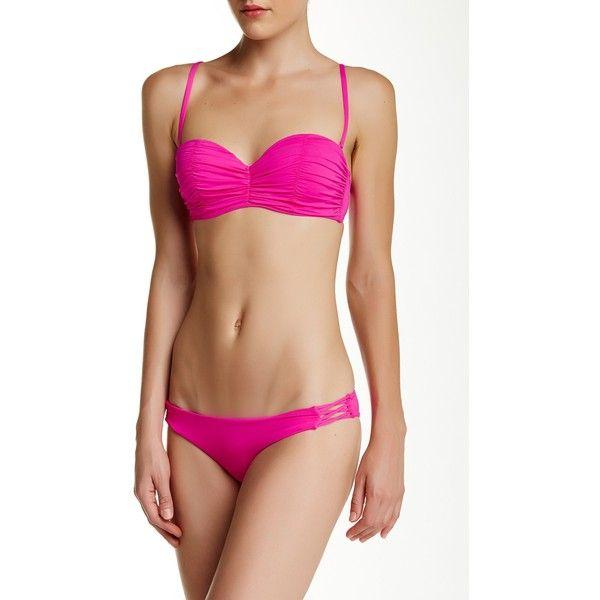 Billabong Sol Searcher Lattice Bikini Bottom (32 AED) ❤ liked on Polyvore featuring swimwear, bikinis, bikini bottoms, passion pop, lattice bikini, billabong, strappy bikini, strap bikini and bikini bottom swimwear