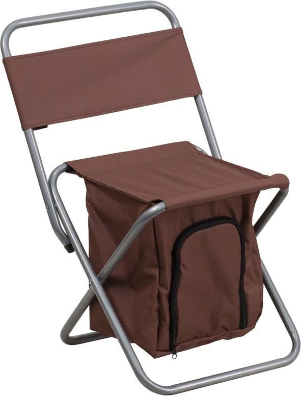 kids folding camping chair with insulated storage in brown this folding chair is the perfect - Outdoor Folding Chairs