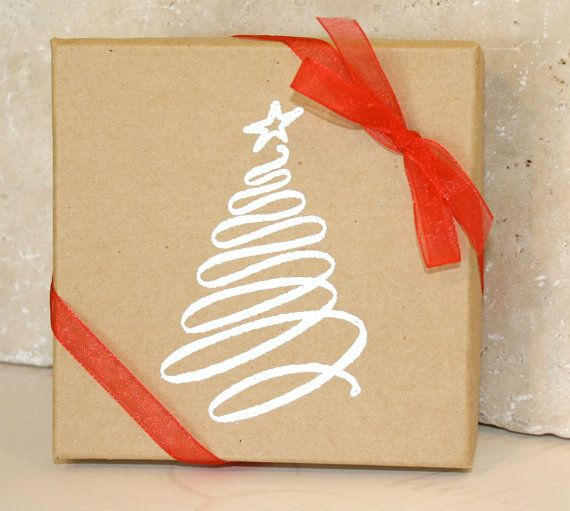Holiday gift box Embossed Gift Boxes Paper by CharmingLifeJewelry, $3.00