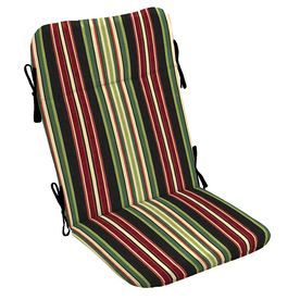 Garden Treasures Sanibel Black Stripe Stripe Standard Patio Chair Cushion  For Adirondack Chair AF26725B
