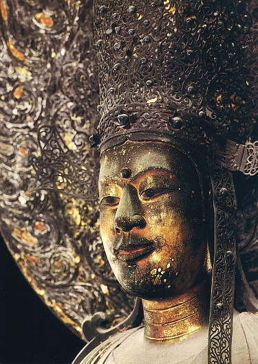 Japanese National Treasure, Statue of Kudara Kannon. S)