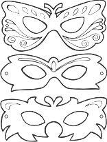 sagome di maschere per carnevale da ritagliare