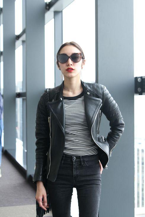 Sayo Yoshida spotted during Tokyo Fashion Week: jacket UNUSED /top agnès b /jeans DIESEL /More photo at: http://www.fashionsnap.com/streetsnap/2015-03-30/55555/