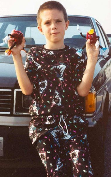 Tyler with his Action Figures