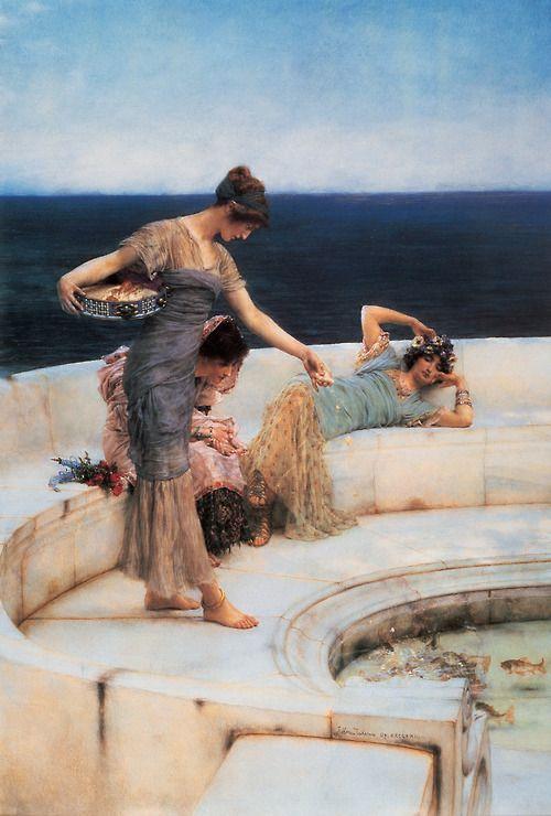 Lawrence Alma-Tadema, Silver Favourites, 1903    ladies of leisure