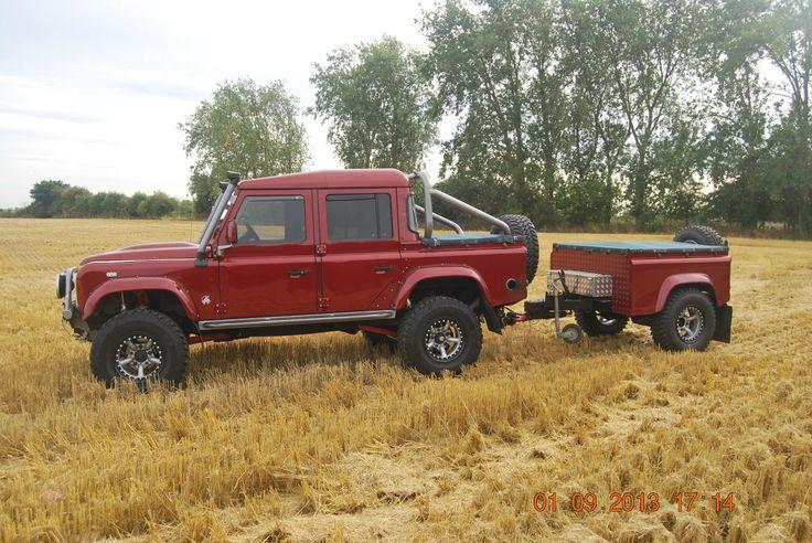 land rover defender td5 110 overlander + 90 Trailer | eBay