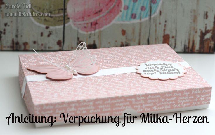 Anleitung: Verpackung für Milka Herzen | Stampin' Up!