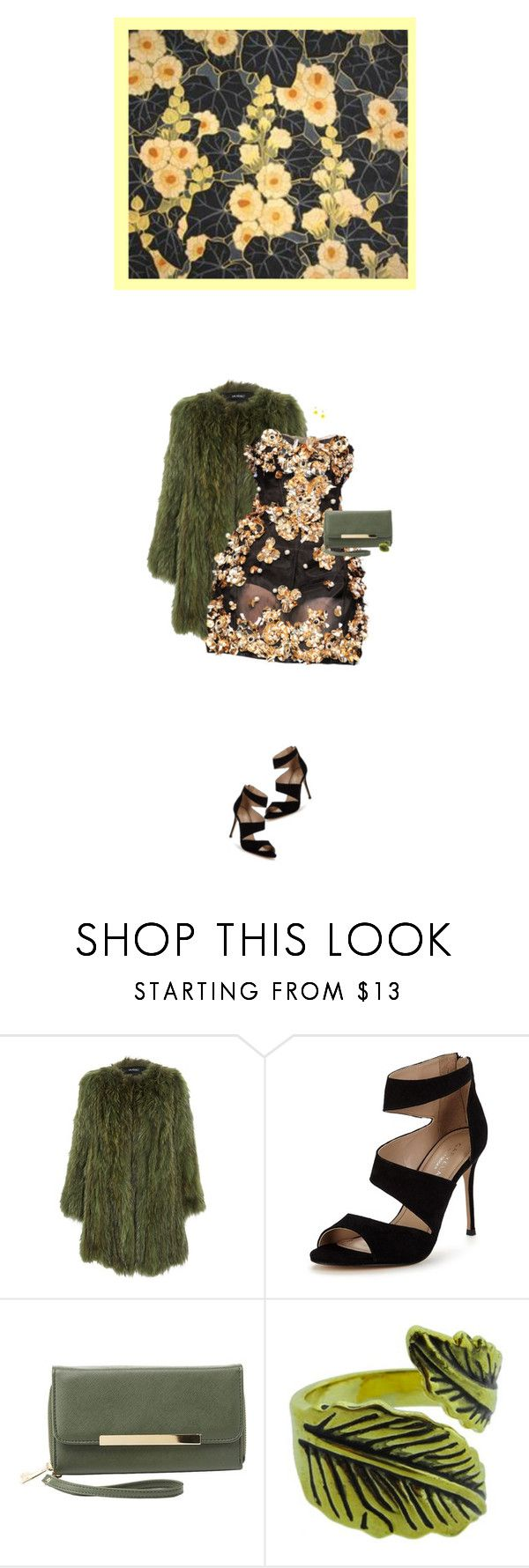 """""""Black and... series; Yellow"""" by artamisia ❤ liked on Polyvore featuring Dolce&Gabbana, Carvela, Charlotte Russe, Emi Jewellery, InspiredBy, yellow, floral, black and blackandyellow"""