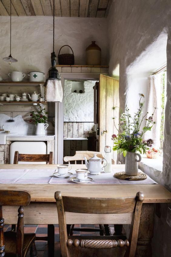 Love This Modern Rustic Country Farmhouse Kitchen Dining Room With