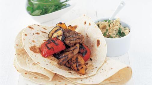 BBC Food - Recipes - Lamb with hummus and tortillas