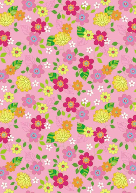 "FREE printable scrapbook paper - ""Pink Floral."""