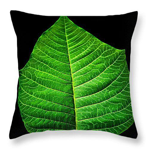 "Leaf Throw Pillow 14"" x 14"""