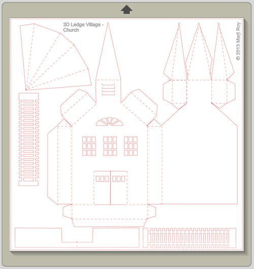Ashbee Design Silhouette Projects: 3D Ledge Village - Church  assembly ideas