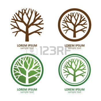 tree vector: Green Circle Tree vector logo design. eco concept.Vector Illustration. Illustration