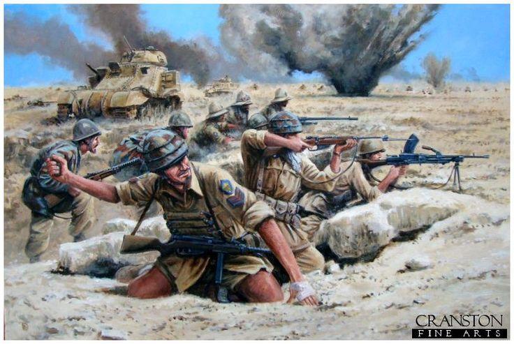 """Regio Esercito  - Divisone Paracadutisti """"Folgore"""" -  ultima difesa ad El Alamein."""