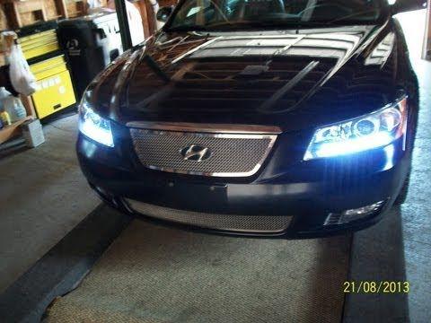 LED Daytime Running Lights for a 2006 Hyundai Sonata - YouTube