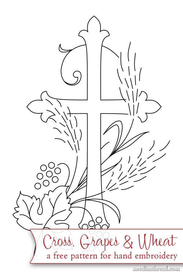 Free hand embroidery pattern - great for bible covers, bookmarks, greeting cards, you name it! Click through for the free PDF printable!
