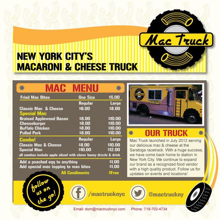 NYC's Mac Truck A food truck of mac 'n cheese! Ahhh