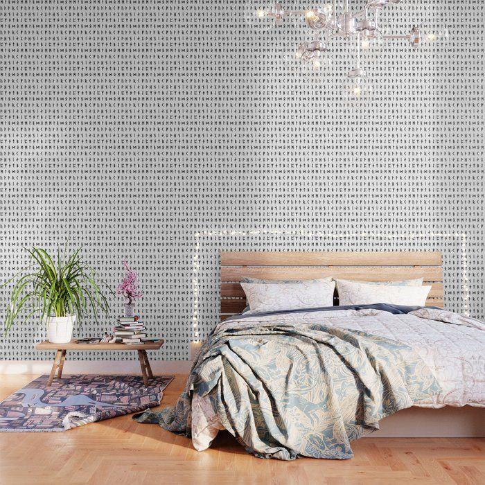 Nordic Runes Wallpaper By Thin Line Studio 2 X 8 Pattern Wallpaper Peel And Stick Wallpaper Black And White Wallpaper