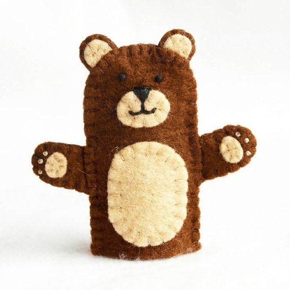 Bear finger puppet felt finger puppet bear by KendrickStorytime