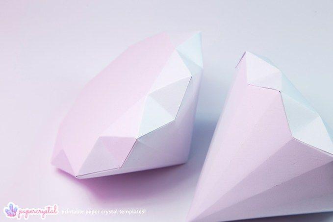 printable paper gems crystal templates envelopes paper