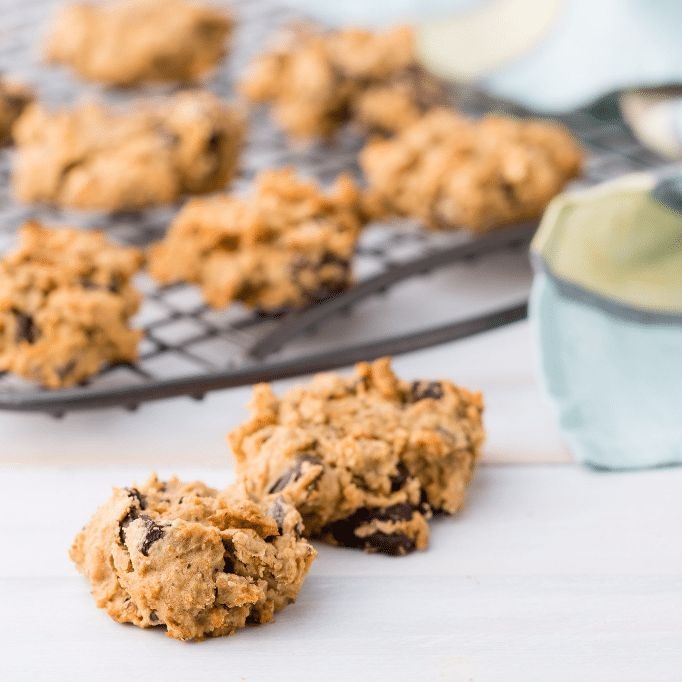 These delicious gluten-free cookies are easily made vegan and take no time to make. The secret ingredient is a tin of chickpeas!